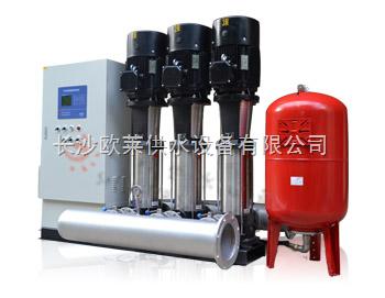 由于供水罐体内压力高于供水管网压力,所以能自动降压供水,当压力减小